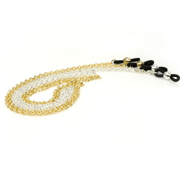 Elegant eyeglass cable chain, Belcher diamond cut