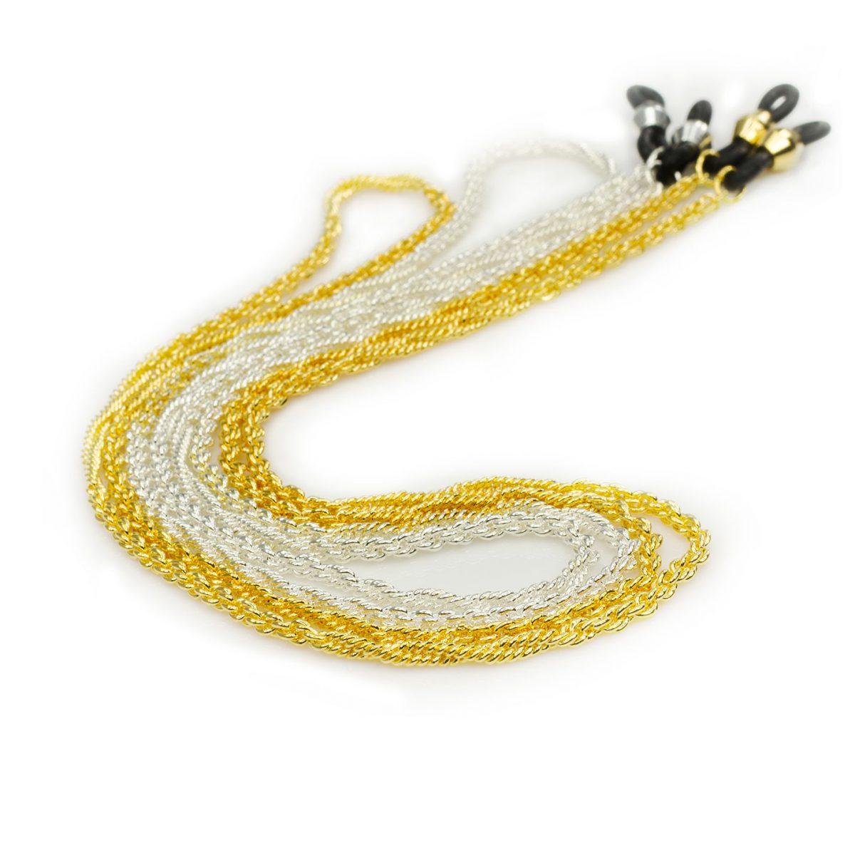 Elegant eyeglass chain, Rope & Wheat