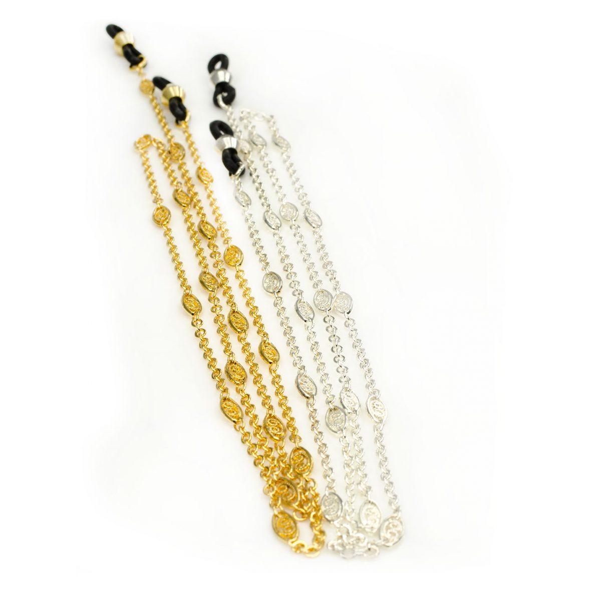 Elegant eyeglasses chains, Belcher Oval