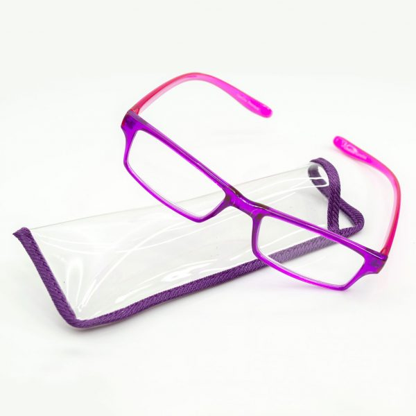 CouCou Readers in Purple with case
