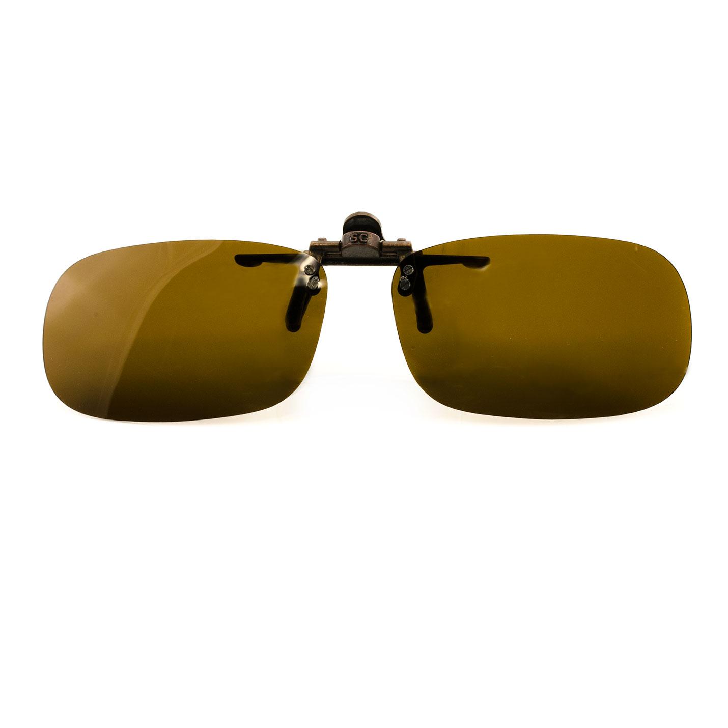 Lunettes de soleil Flip-Up aviateur polarisées UV400- Rectangle Moyen