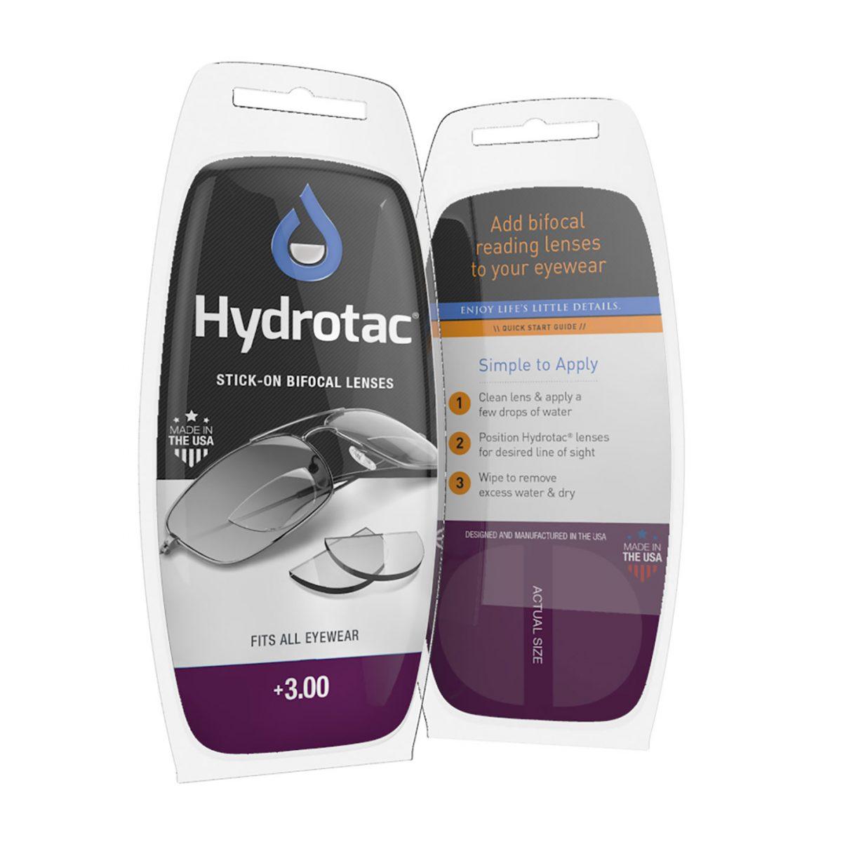 Hydrotac Stick-On Bifocal Lenses