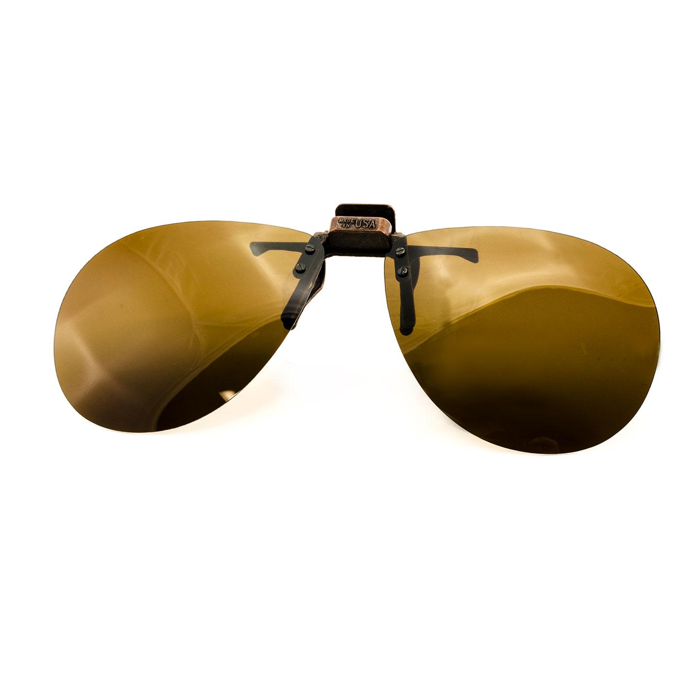 Lunettes de soleil Flip-Up aviateur polarisées UV400