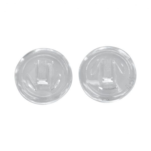Plaquettes nasales symétriques à pression en silicone