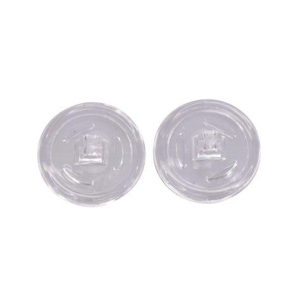Plaquettes nasales symétriques à vis en silicone