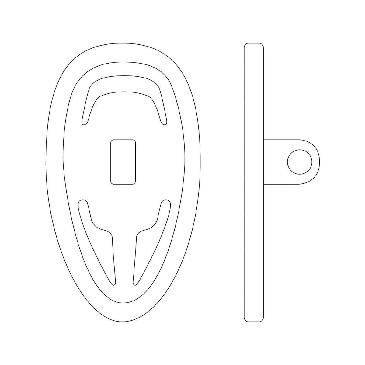 symmetrical screw-on nose pads