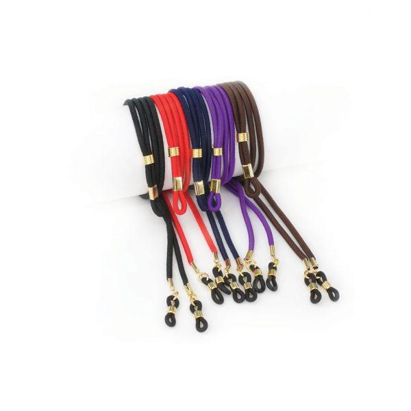 Elastic eyeglasses cords
