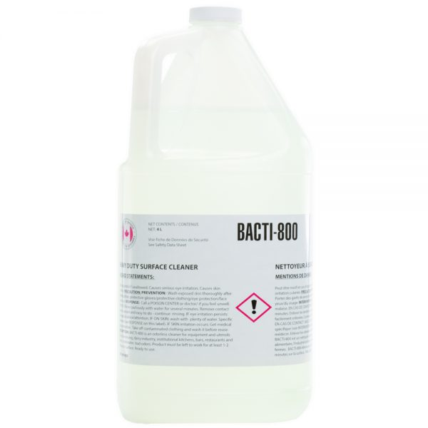 Bacti-800 – Heavy Duty Surface Cleaner – 4L